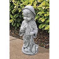 """Baby Saint Francis Sculpture 23.5""""H"""
