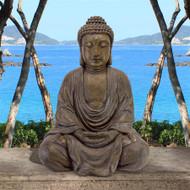 "Meditative Buddha of the Grand Temple Garden Statue 40""H"