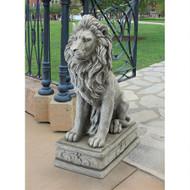 """Fouquet Royal Palace Sentinel Lion Statue 30""""H"""