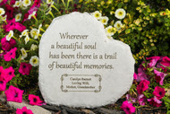 """Wherever a beautiful soul..."" 12"" Heart Personalized Memorial Stone"