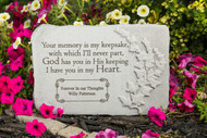 """Your memory is my keepsake..."" 15"" x 10"" Rectangle Personalized Memorial Stone"