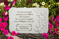 """You left us beautiful memories..."" 15"" x 10"" Rectangle Personalized Memorial Stone"