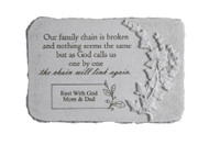 """Our family chain..."" 15"" x 10"" Rectangle Personalized Memorial Stone"