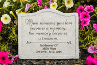 """When someone you love..."" Personalized Memorial Stone 8"" x 6.75"""