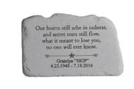 """""""Our hearts still ache..."""" Personalized Memorial Stone 11"""" x 7"""""""