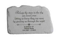 """Perhaps the stars..."" Personalized Memorial Stone 11"" x 7"""