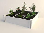 Raised Garden Bed with Grid