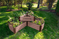 "Classic Circle Keyhole Garden 9' x 9' x 16.5"" (1"" profile) Sienna"
