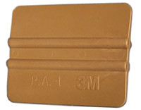 "4"" 3M Bump Card Squeegee - Gold"