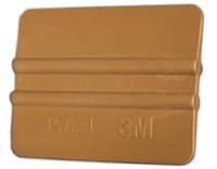 """4"""" 3M Bump Card Squeegee - Gold"""