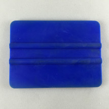 "4"" PVC Bump Card Squeegee - Blue"