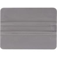 "4"" Lidco Bump Card Round Corner Squeegee - Gray"