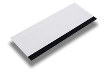 "6"" White Hard Card w/Black Rubber Edge"