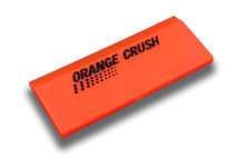 "5"" Orange Crush Beveled Squeegee Blade - Soft"