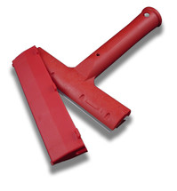 "6"" Scraper - Triumph Red Heavy Duty Scraper w/Blade Cover"