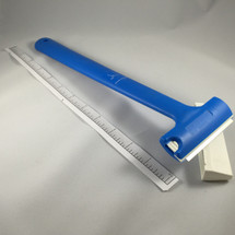 "3"" Scraper - Triumph 12"" Blue Plastic w/Blade & Cover"
