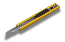 Knife 13-Pt Olfa Yellow-A Stainless Steel  w/Auto-Lock