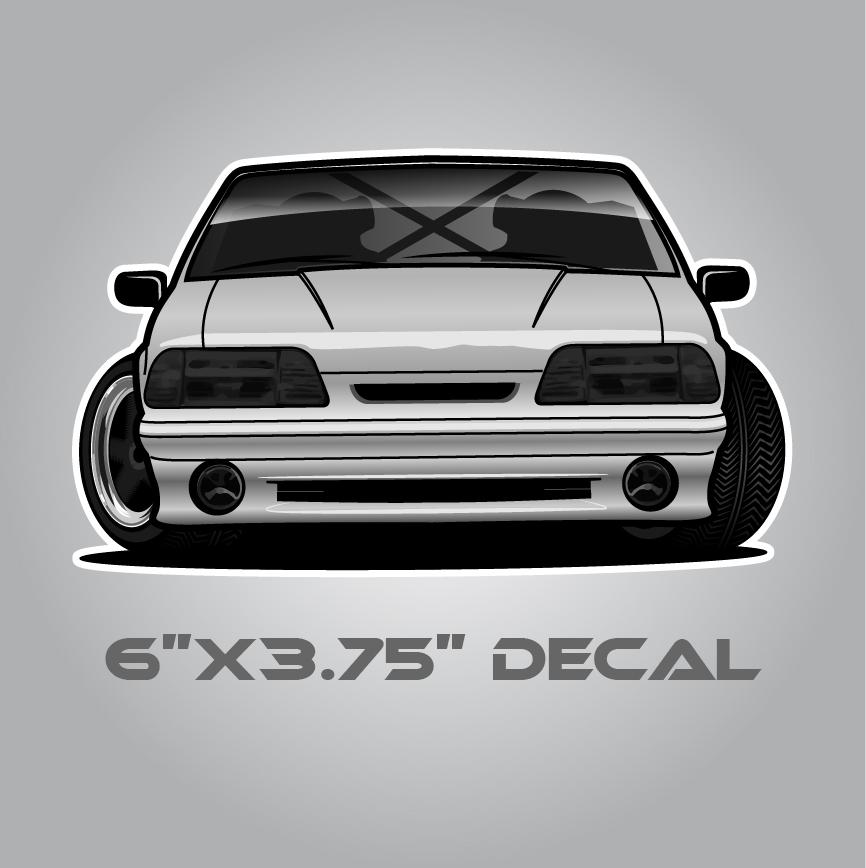 Foxbody Mustang sticker