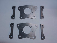 Dual Caliper Brackets for Foxbody, with 5 lug axles and Cobra Brakes