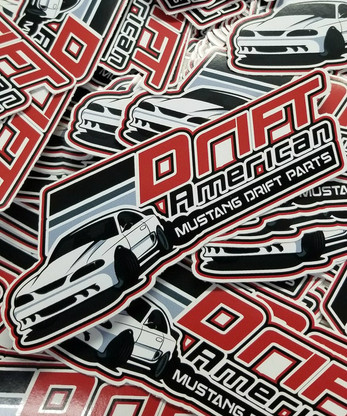 Small Drift American Sticker