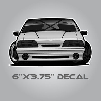 Foxbody Mustang Drift Sticker