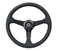 "350MM 1"" Deep Dish Steering Wheel by NRG in Leather"
