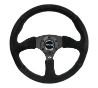 "350MM Sport 2.5"" Deep Dish Reinforced Steering Wheel wrapped in Suede"