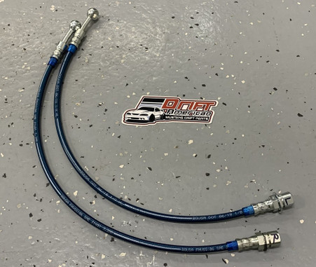 Drift American Extended Length Steel Braided Brake Lines for 79-04 Mustang