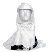 tyvek hood assembly for supplied air respirator