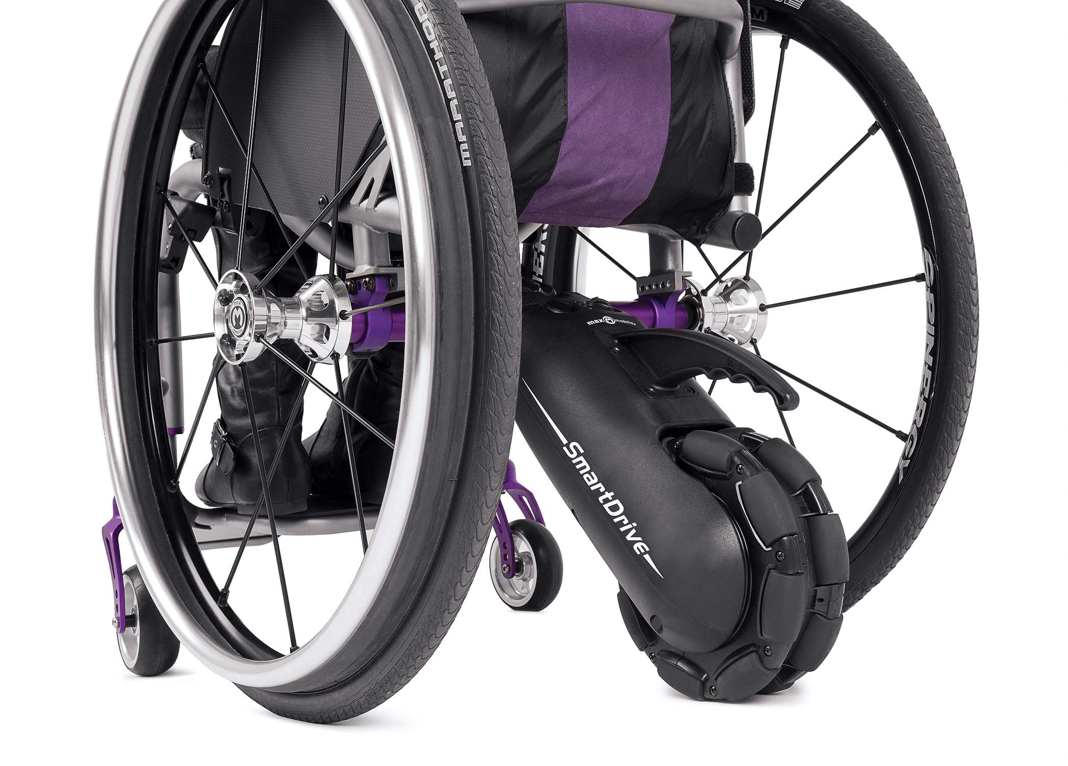 Mx2+ smartdrive power assist and pushtracker for wheelchairs by.