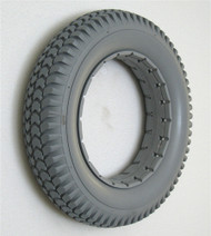 """14 x 3"""" (3.00-8)Light Gray KNOBBY TIRE Fits Quickie Wide"""