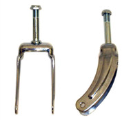 "E&J 8"" CHROME STEEL Caster Forks"