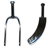"INVACARE 8"" CHROME STEEL Caster Forks"
