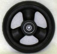 HOLLOW SPOKE Caster Wheel Urethane Wide Tire