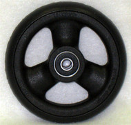 HOLLOW SPOKE Caster Wheel Hub Width Urethane Round Tire