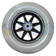 "8"" x 2"" JAZZY REAR ONE PIECE SIX SPOKE CASTER 2.375 Hub Width Molded-On Tire"