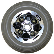 "7"" x 2"" ALLOY CASTER 2 Piece Wheel Urethane Rib Tire"
