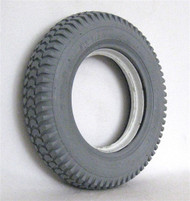 "3.00-8 (14 x 3"") HEAVY DUTY KNOBBY TIRE Fits Invacare With Keyway"