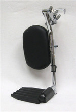 TOP LATCH STYLE ELEVATING LEGREST W/CALF PAD Push Button Adjustable Fits Invacare/Drive Hemi