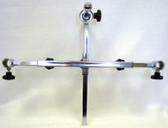 "Adjustable HEADREST BRACKET 12"" Height-6"" Depth SWIVEL MOUNT CHROME PLATED"