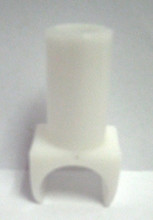 """White Plactic SEAT RAIL GUIDE For Fixed Armrest Fits 7/8"""" Tube"""