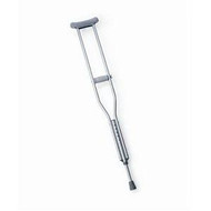 "Adult Aluminum Push Button Crutch - 4'6"" to 6'6"""