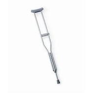 "Adult Aluminum Push Button Crutch - 4'6"" to 6'6"""