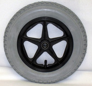"""12 1/2 x 2 1/4"""" 5 SPOKE MAG Flush Hub Free Spin 1/2"""" Axle With Tire & Tube"""