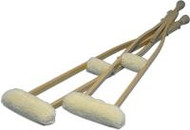 Imitation Sheepskin Crutch Cover and Hand Grips Set - Hermell Products