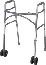 Two Button Bariatric Folding Walker - Drive Medical
