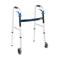 "Junior Trigger Release Folding Walker w/ 5"" Wheels"