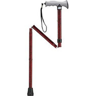 Aluminum Folding Cane with Gel Grip Red Crackle