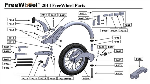 best service 68af5 ce1d0 Extra Parts for the FreeWheel Wheelchair Attachment   Living Spinal