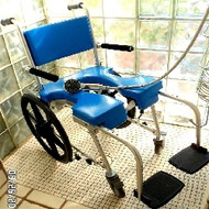 Go-Anywhere Self-Propelled Commode and Shower Chair
